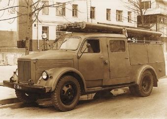 Пожарный автомобиль-цистерна АЦ-20(51) модели ПМЗ-36 строил Торжокский завод противопожарного оборудования с 1953 по 1970 г.