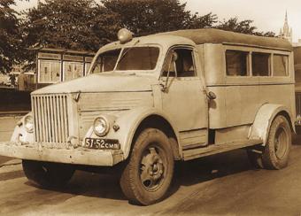 Санитарный автомобиль ПАЗ-653 выпускался Павловским автобусным заводом с 1950 по 1967 г.