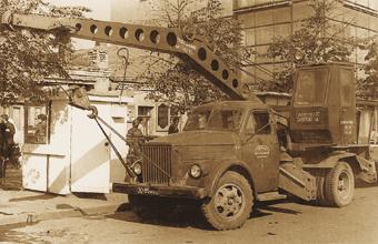 Электрический автомобильный кран К-2, 5-Э изготавливался с 1958 по 1963 гг. Ивановским автокрановым заводом.